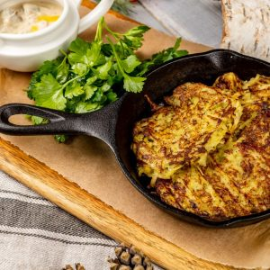 Драники из картофеля с грибным соусом