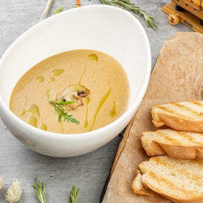 Крем суп из лесных грибов
