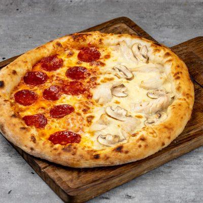 """Пицца две половинки """"Пепперони и Палермо"""""""