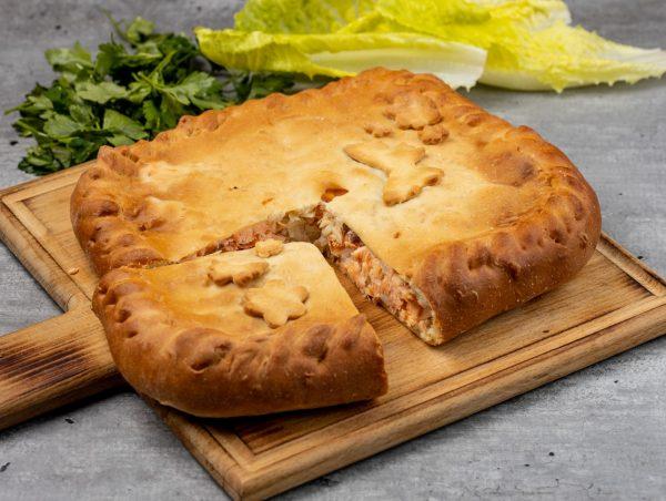 Пирог с лососем и картофелем