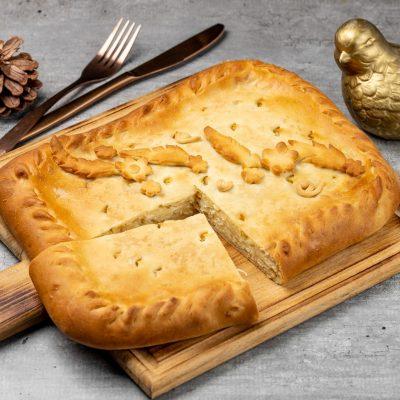 Пирог с картофелем и шпиком